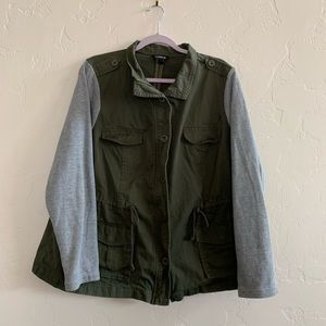 Torrid Military Style Jacket with Drawstring Waste